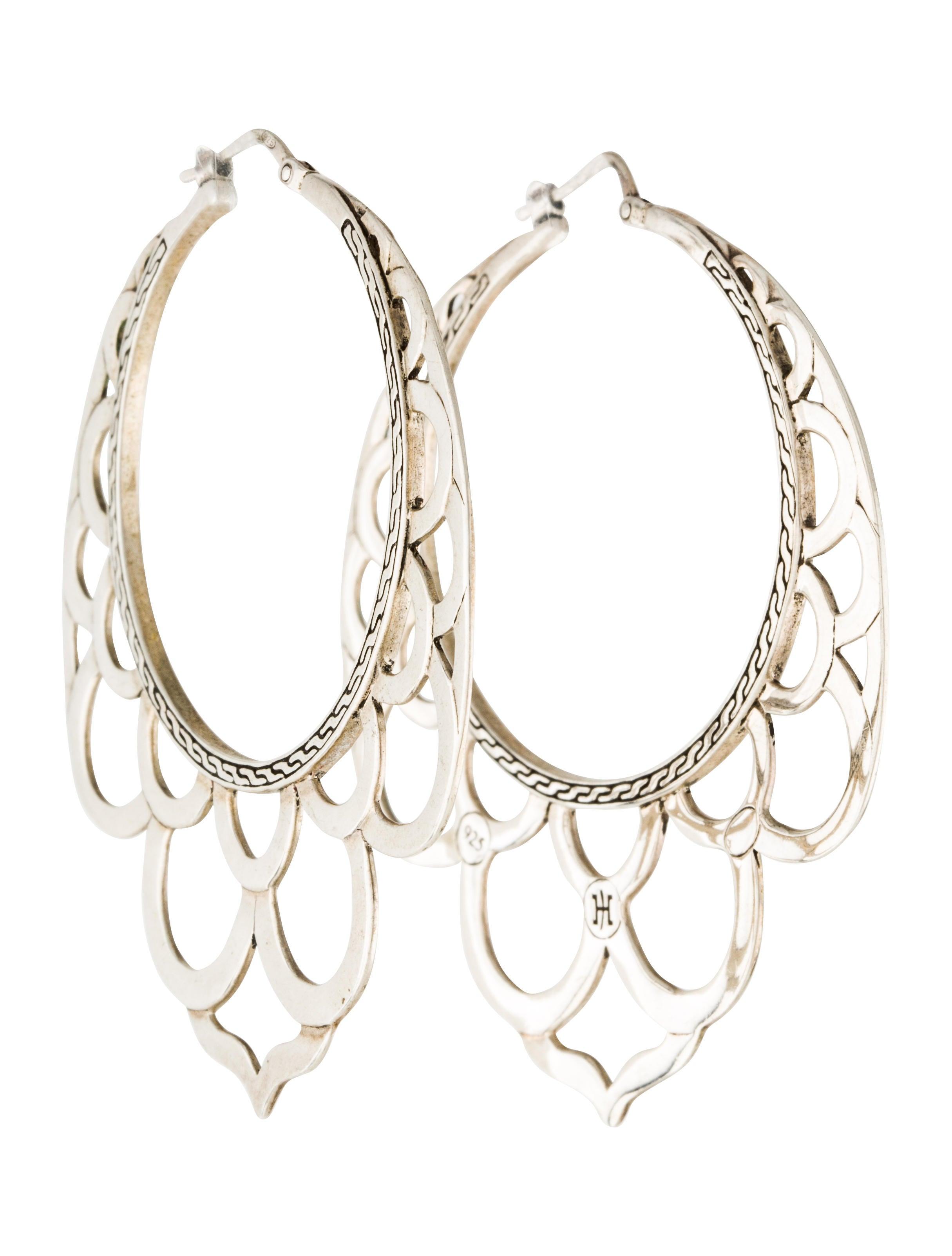 John hardy naga silver lace hoop earrings earrings for John hardy jewelry earrings