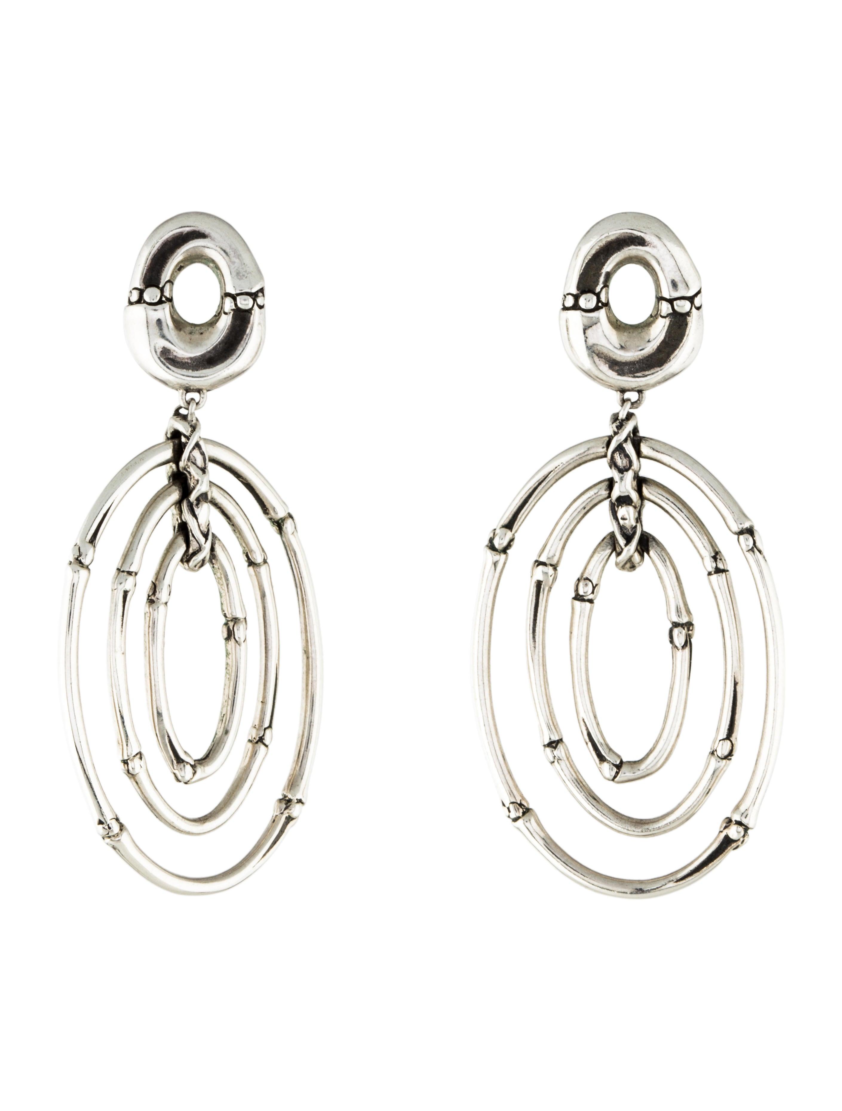 John hardy bamboo oval drop earrings earrings jha27637 for John hardy jewelry earrings