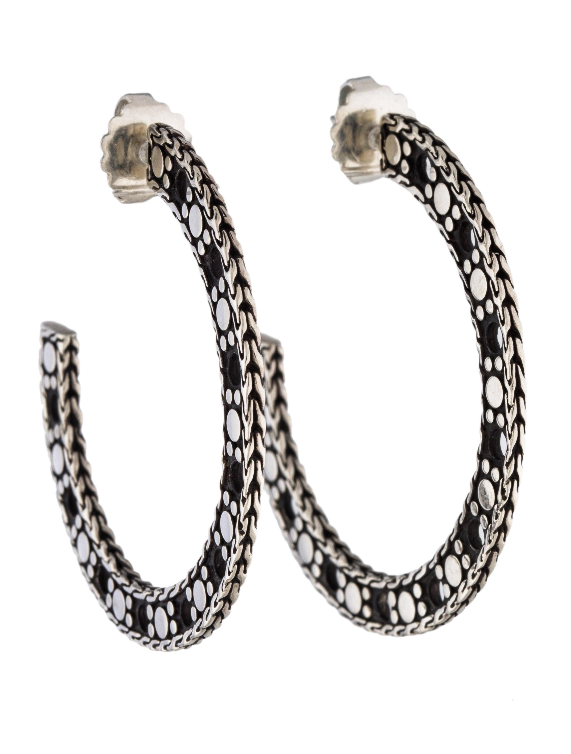 John hardy dot hoop earrings earrings jha27742 the for John hardy jewelry earrings