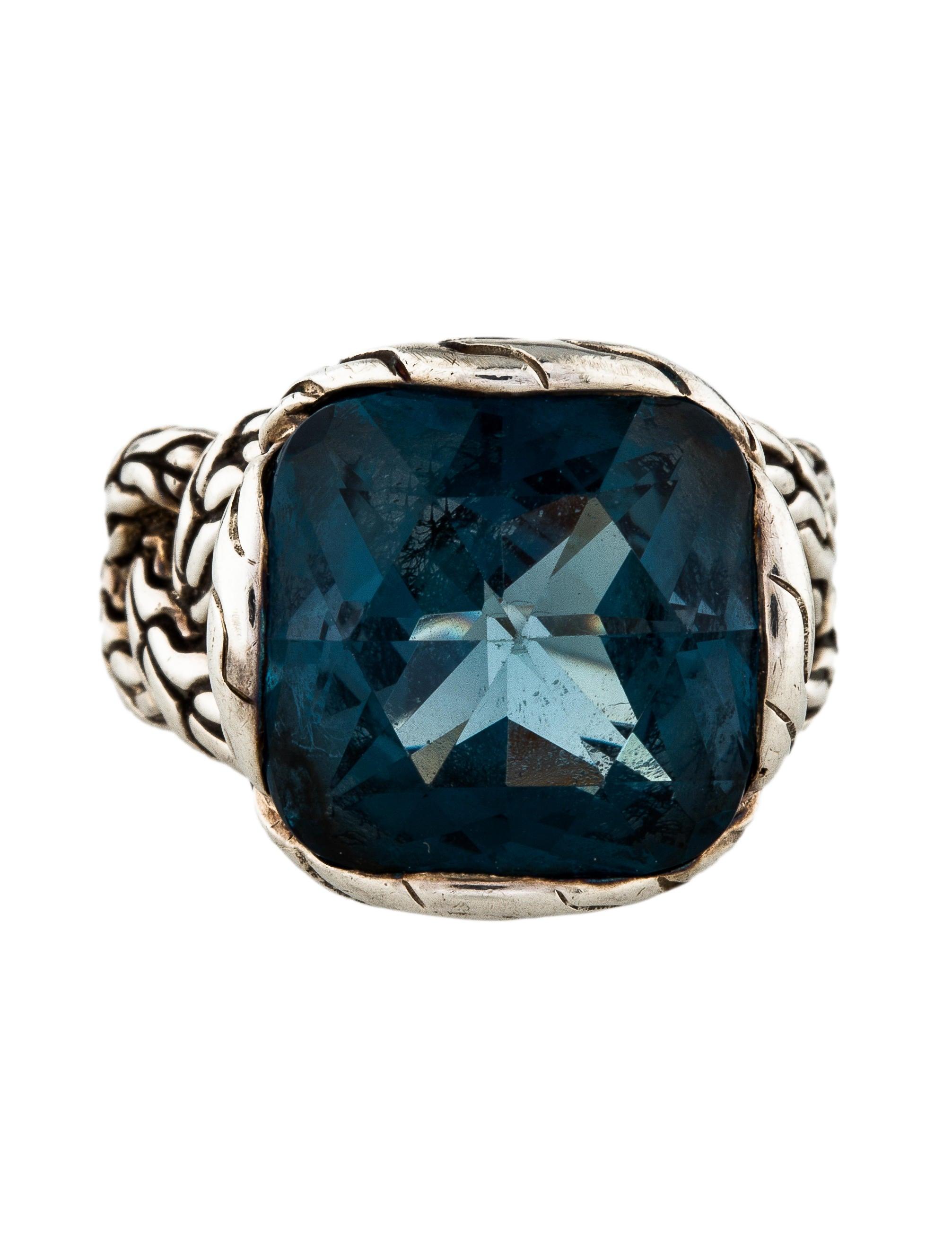hardy topaz batu classic chain medium ring rings
