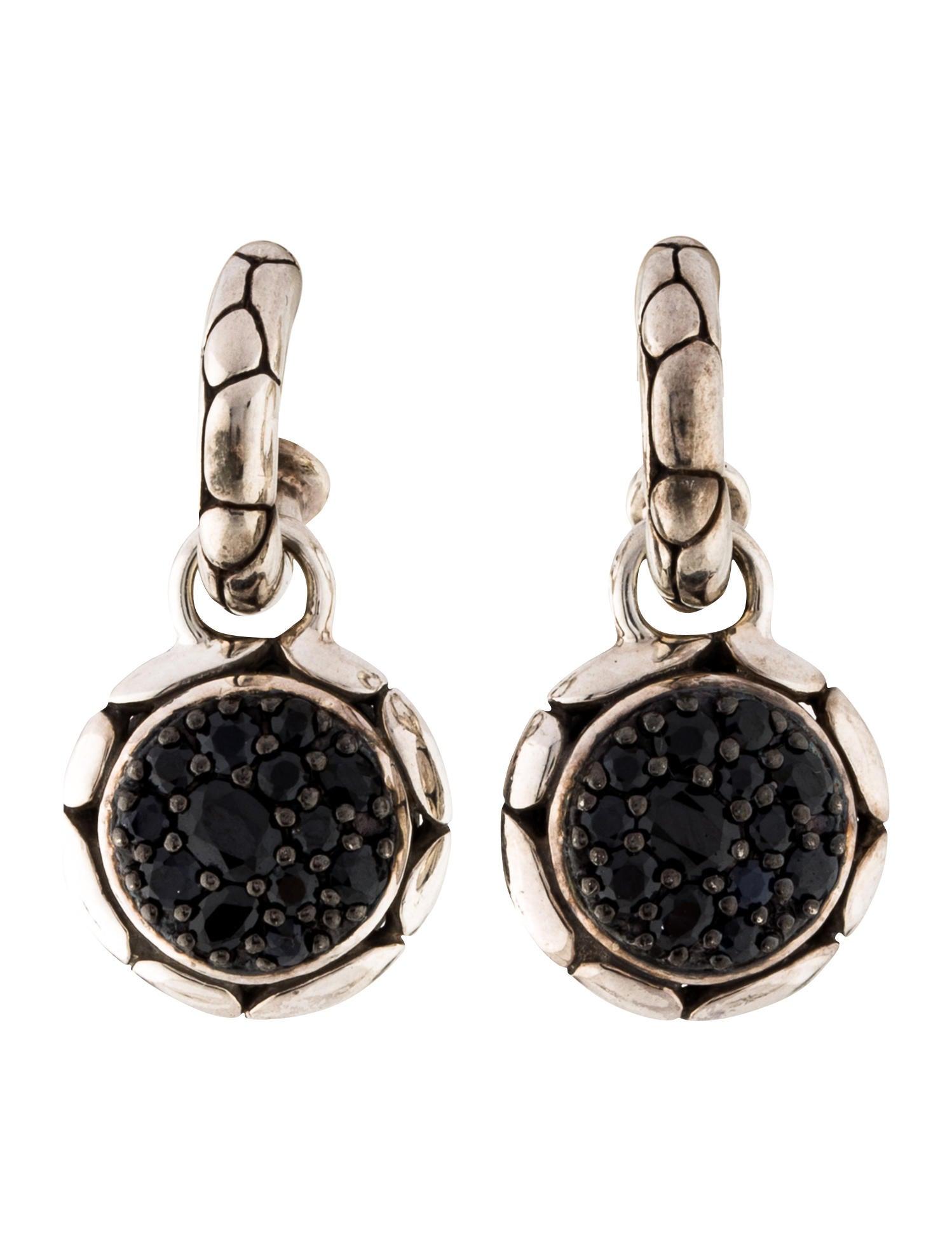 John hardy extra small black sapphire kali drop earrings for John hardy jewelry earrings