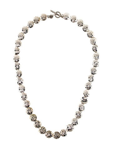 John Hardy Hammered Dot Link Necklace None