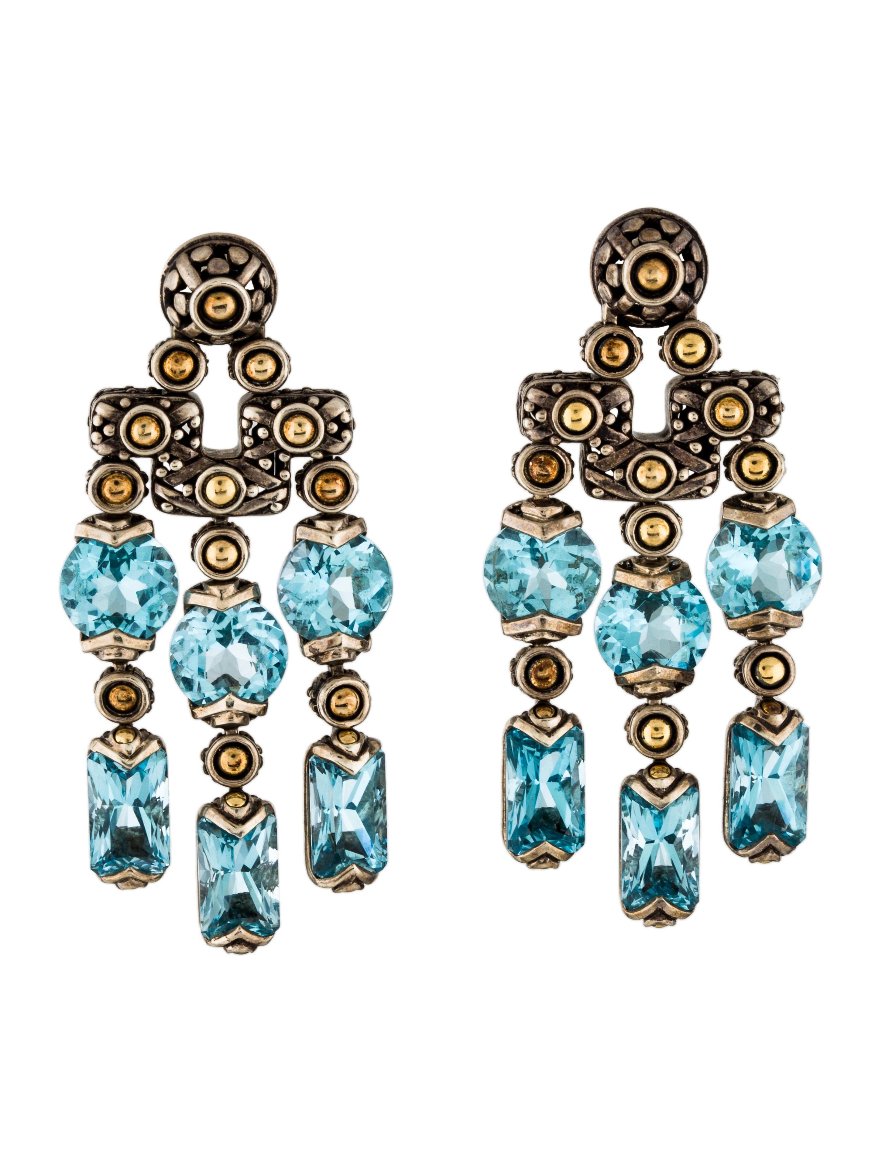 John hardy topaz chandelier earrings earrings jha29515 the topaz chandelier earrings mozeypictures Gallery