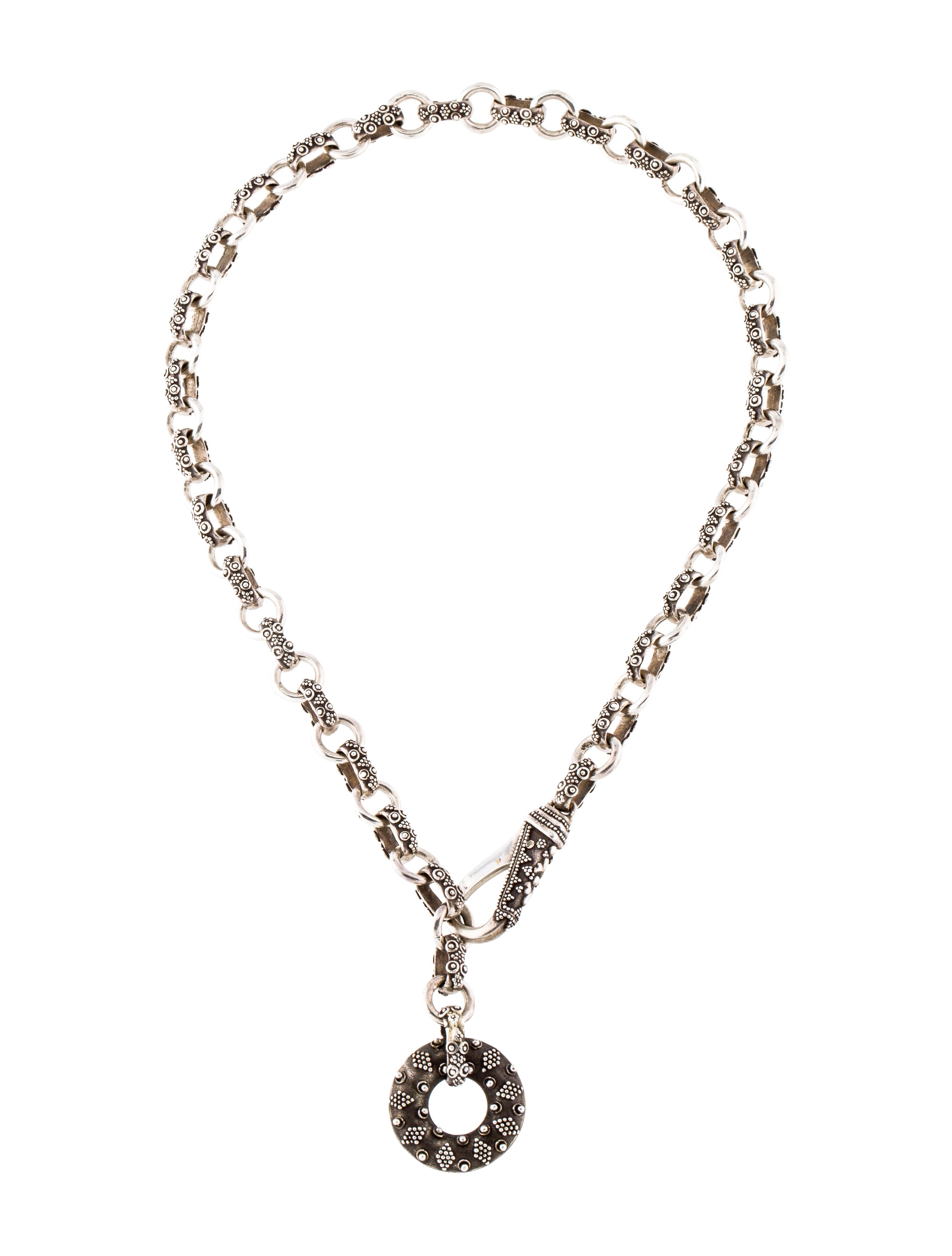John hardy circle pendant necklace necklaces jha29889 the realreal circle pendant necklace aloadofball Choice Image