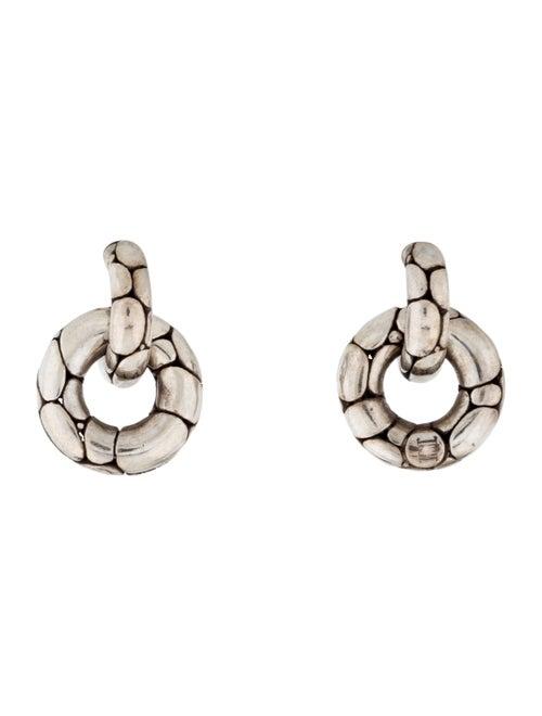 John Hardy Kali Small Doorknocker Earrings silver