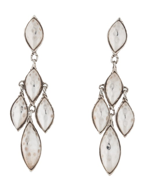 John Hardy Hammered Chandelier Earrings Silver