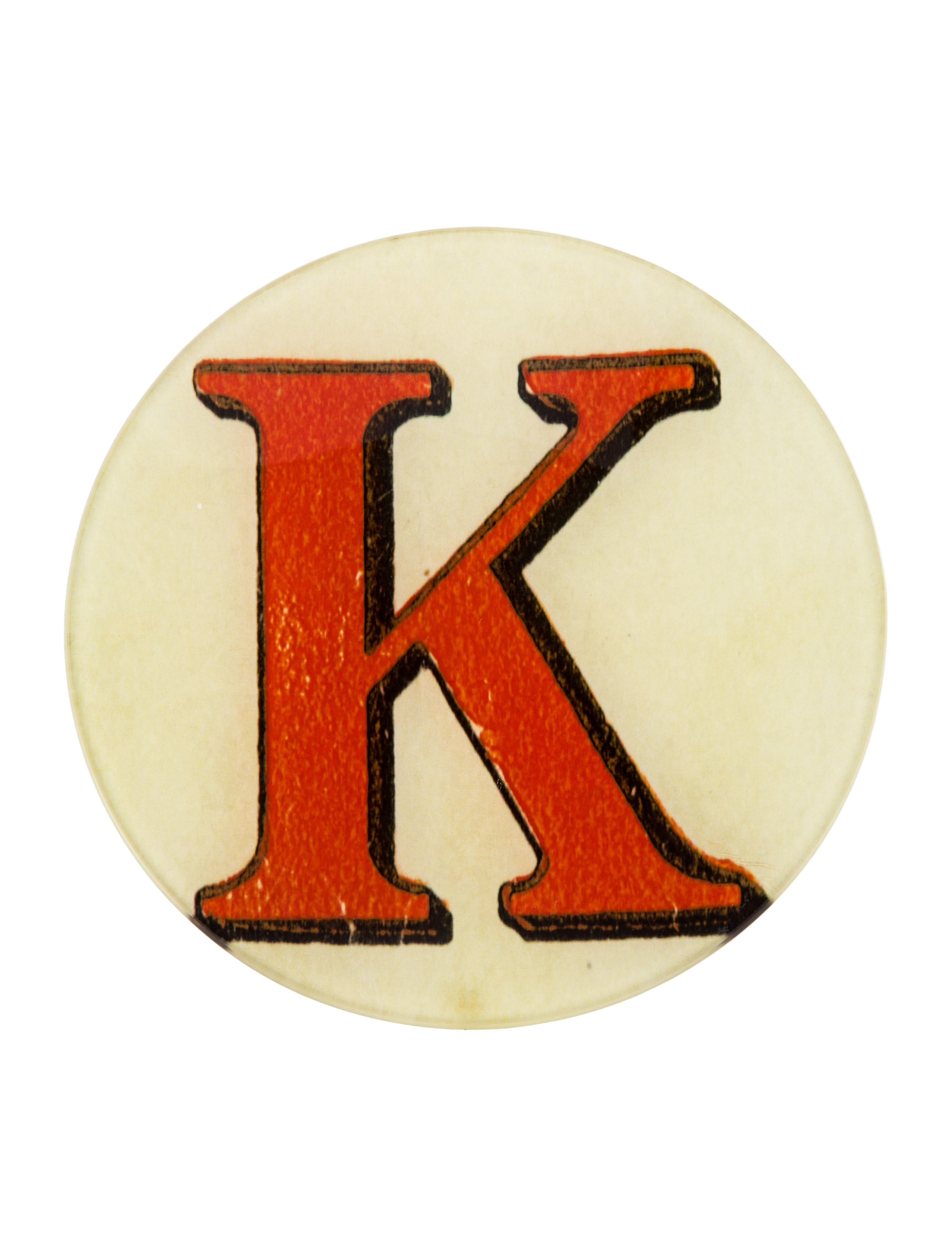 John derian red letter k dish decor and accessories for Letter k decoration
