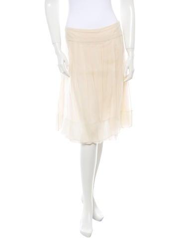 Jil Sander Silk Skirt None