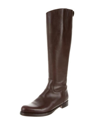 Round-Toe Riding Boots