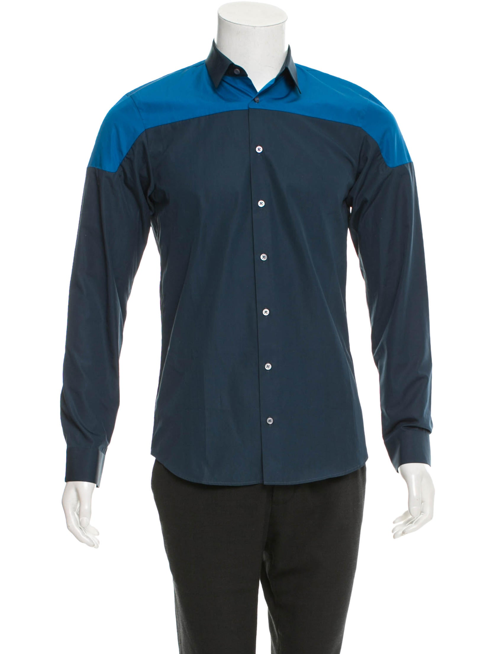 Jil sander colorblock button up shirt clothing for Jil sander mens shirt