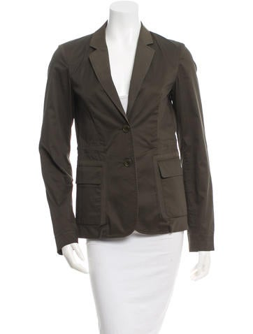 Jil Sander Long Sleeve Notched Lapel Blazer