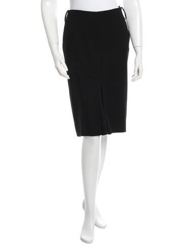 Jil Sander Wool A-Line Skirt