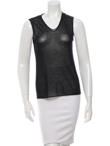 Jil Sander Sleeveless V-Neck Top None