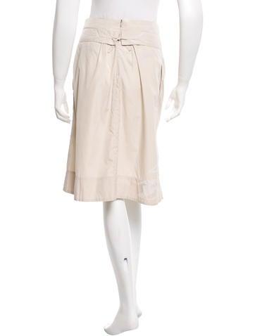 Printed Knee-Length Skirt