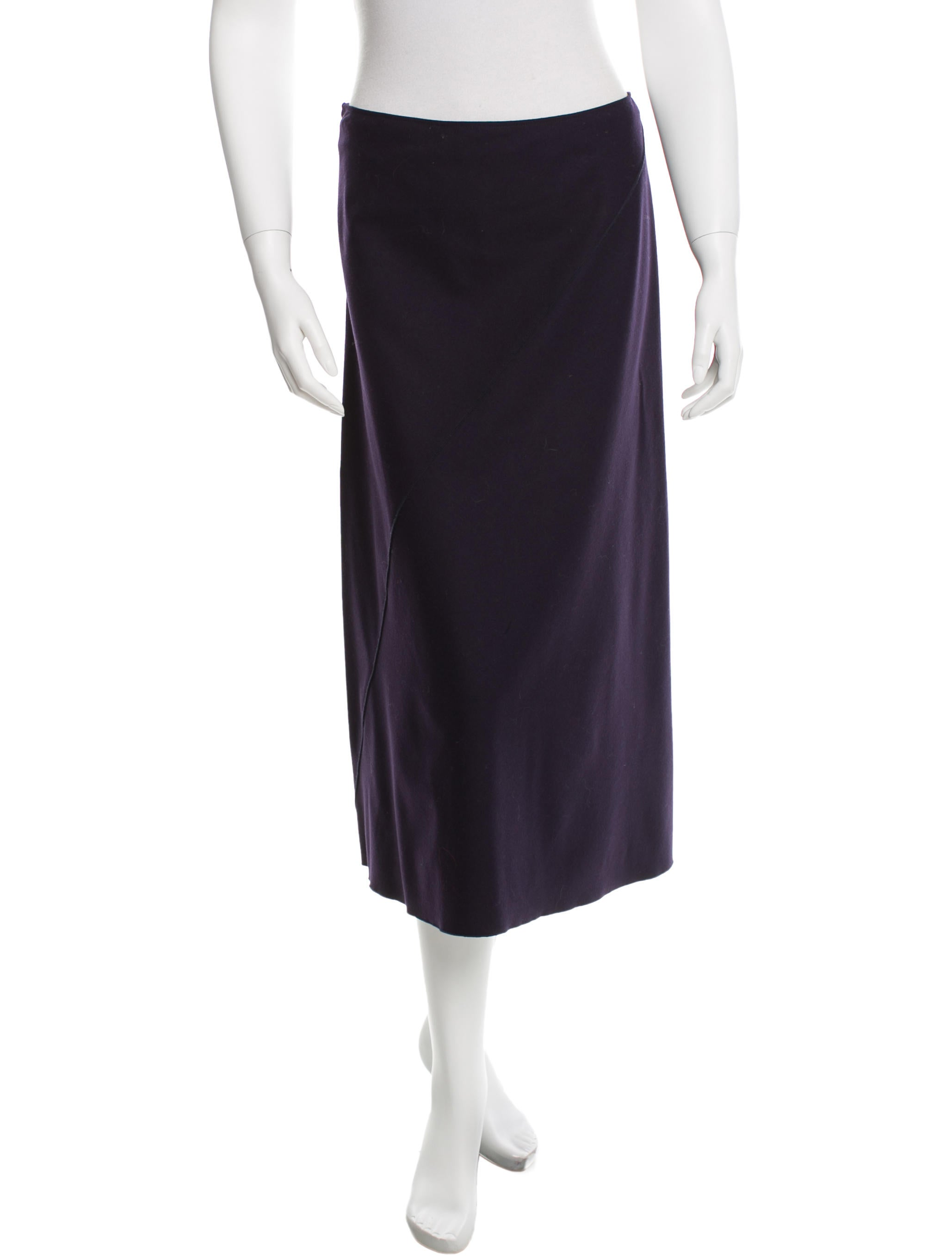 jil sander wool midi skirt clothing jil31031 the