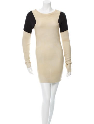 Jil Sander Long Sleeve Rib Knit Dress w/ Tags None