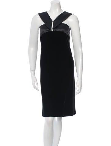 Jil Sander Sleeveless Velvet Dress None