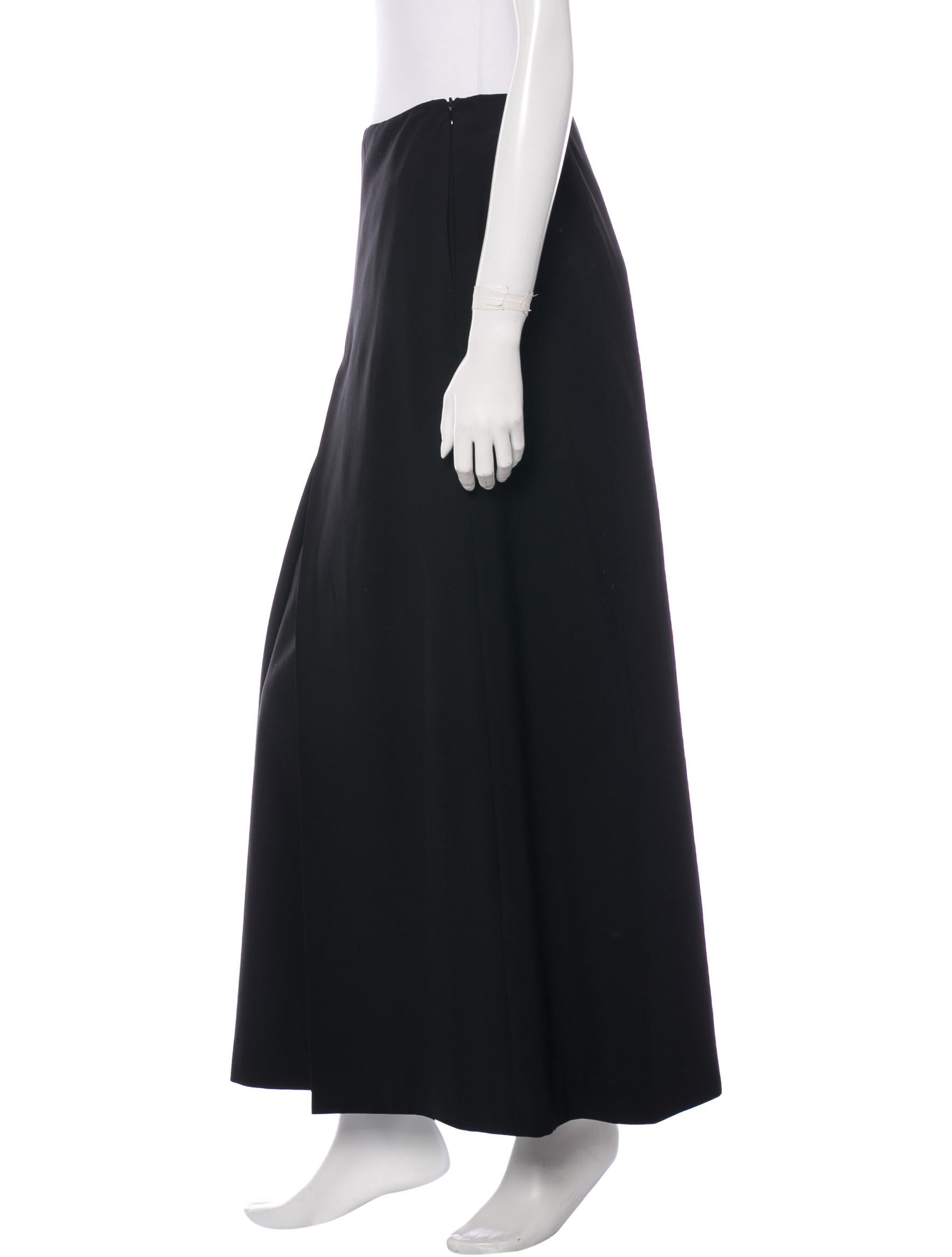 jil sander wool maxi skirt clothing jil31356 the