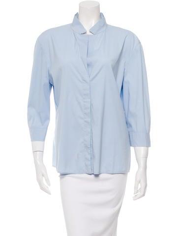 Jil Sander Three-Quarter Sleeve Button-Up Top None