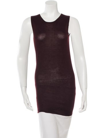 Jil Sander Sleeveless Wool Top None