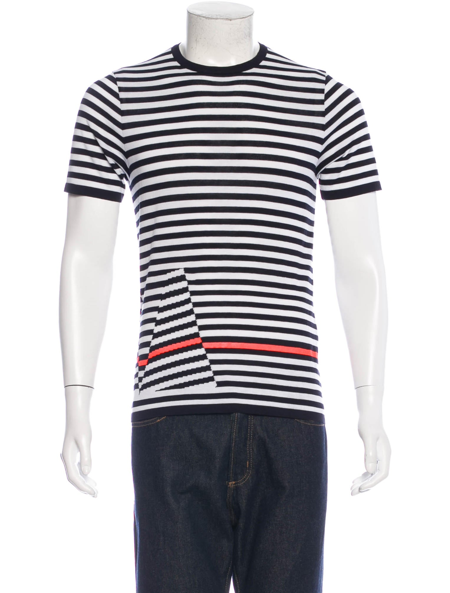 Jil sander striped short sleeve t shirt clothing for Jil sander mens shirt