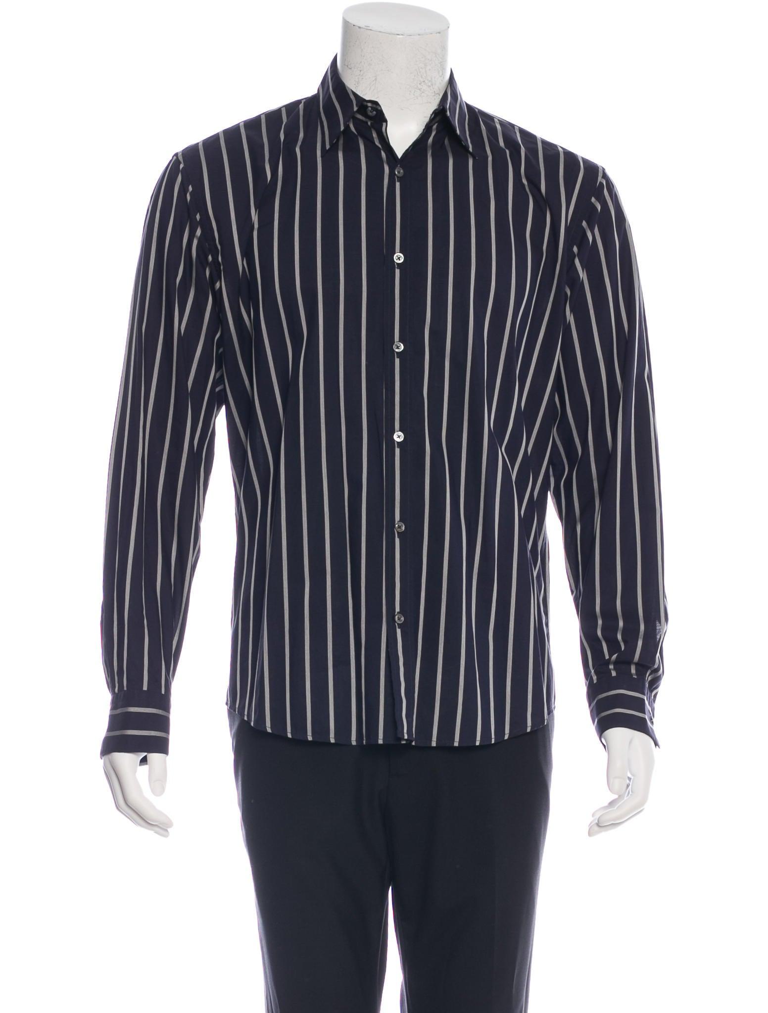 Jil sander striped woven shirt clothing jil32283 the for Jil sander mens shirt