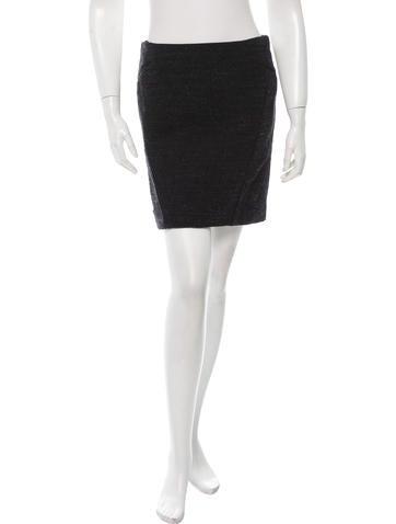 Jil Sander Wool Mini Skirt