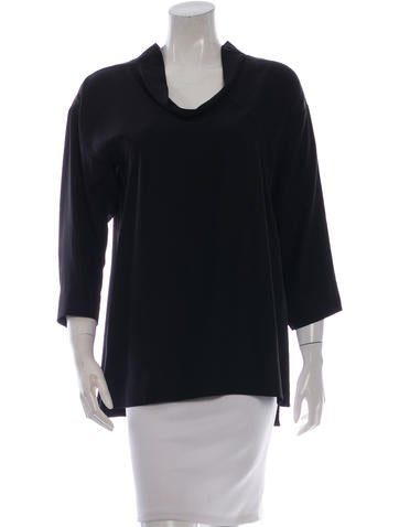 Jil Sander Silk Cowl Neck Top None
