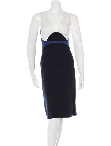 Jil Sander Sleeveless Colorblock Dress None