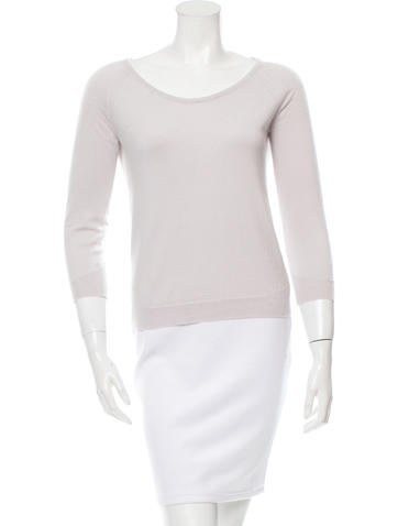 Jil Sander Perforated Scoop Neck Sweater None