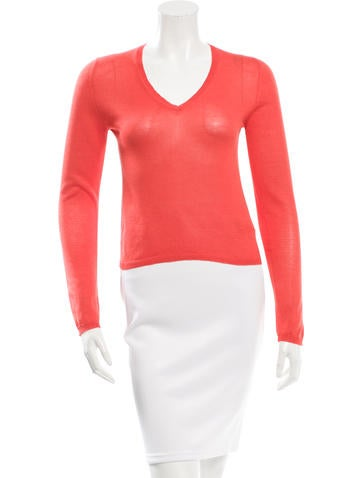 Jil Sander Silk Cropped Sweater None