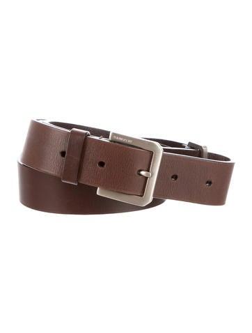 jil sander silver tone leather belt accessories