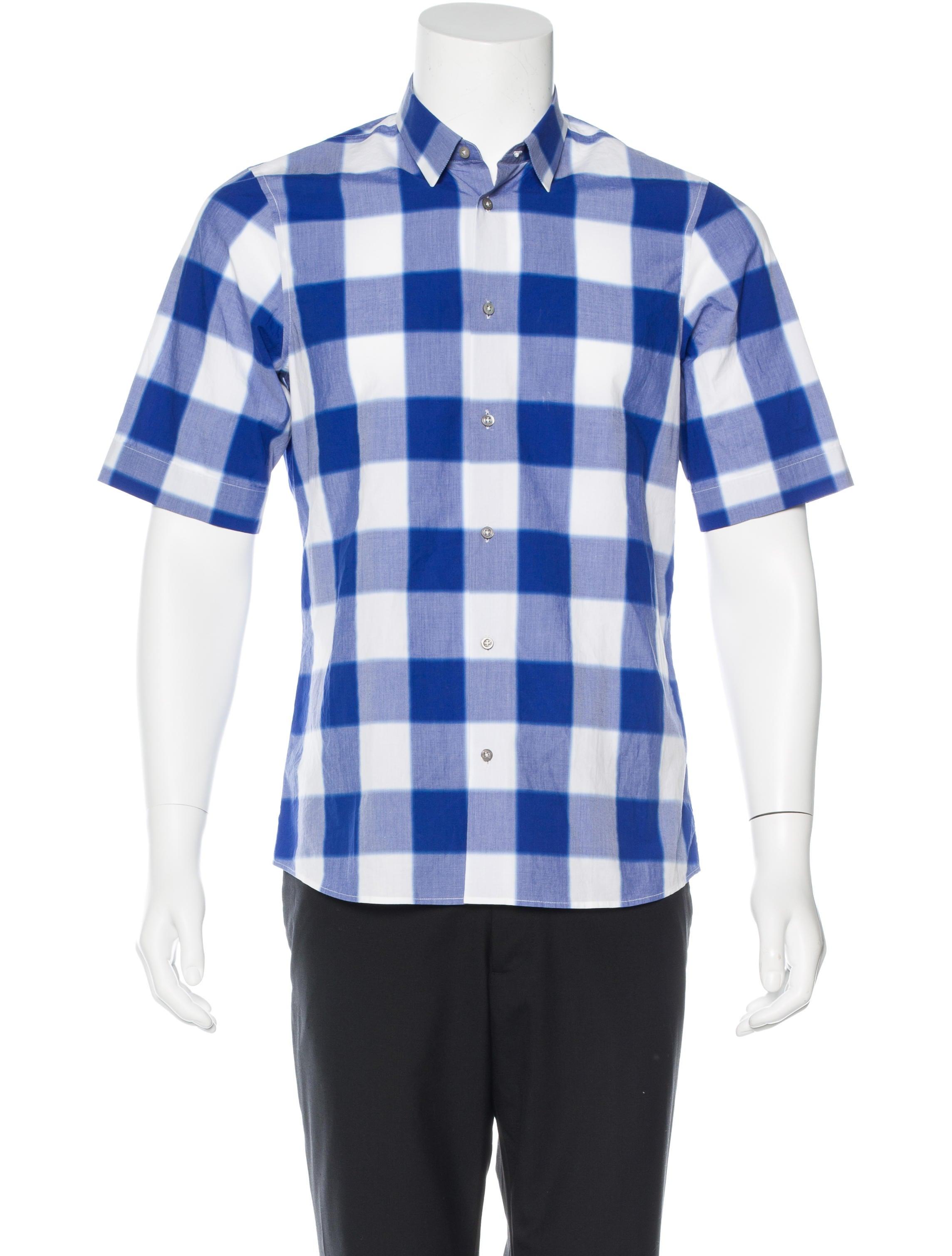 Jil sander plaid woven shirt clothing jil32890 the for Jil sander mens shirt