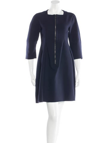 Jil Sander Three-Quarter Sleeve A-Line Dress None