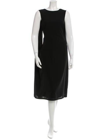 Jil Sander Wool Draped Dress