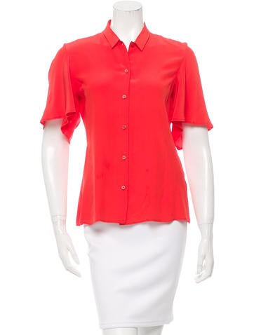 Jil Sander Silk Button-Up Top None