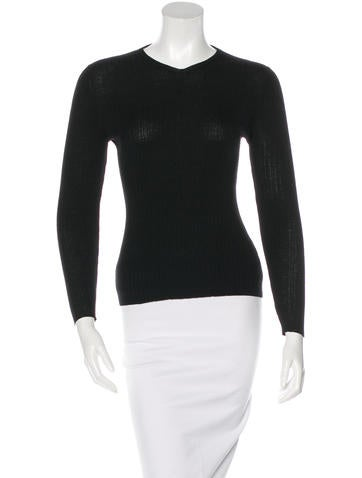 Jil Sander Wool Rib Knit Top None