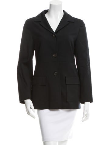 Jil Sander Wool Notch-Lapel Blazer