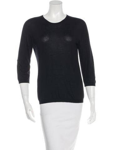 Jil Sander Cashmere & Silk-Blend Long Sleeve Top None