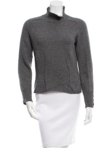Jil Sander Mock Neck Wool Sweater None