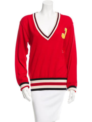 Jil Sander Virgin Wool Varsity Sweater None