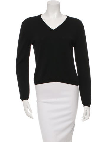 Jil Sander Wool V-Neck Top None