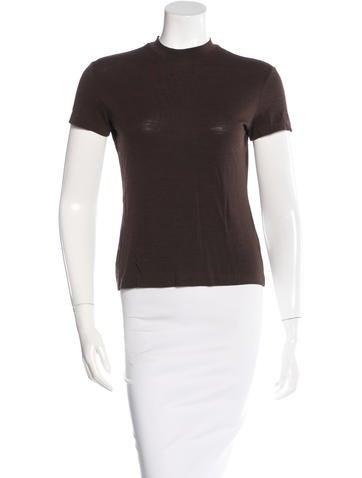 Jil Sander Wool-Blend Three-Quarter Sleeve Top None