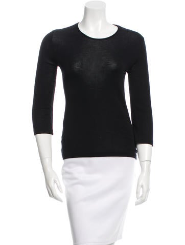 Jil Sander Wool Crew Neck Top None