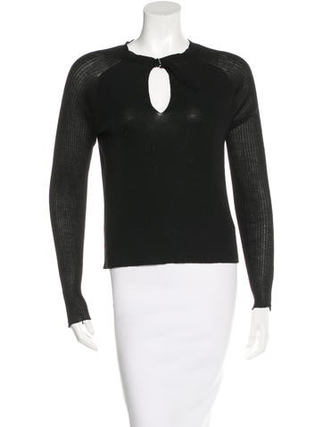 Jil Sander Buckle-Embellished Long Sleeve Top None