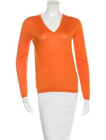 Jil Sander Cashmere V-Neck Sweater None