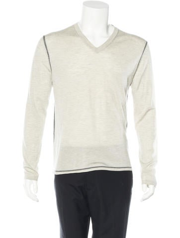 Jil Sander V-Neck Contrast Sweater None