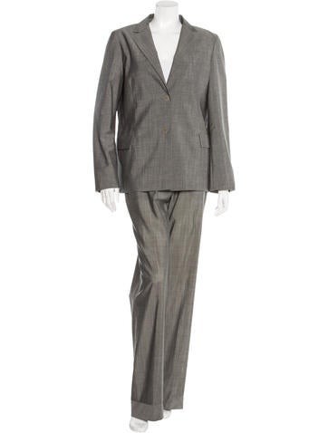 Jil Sander Virgin Wool-Blend Straight-Leg Pantsuit None