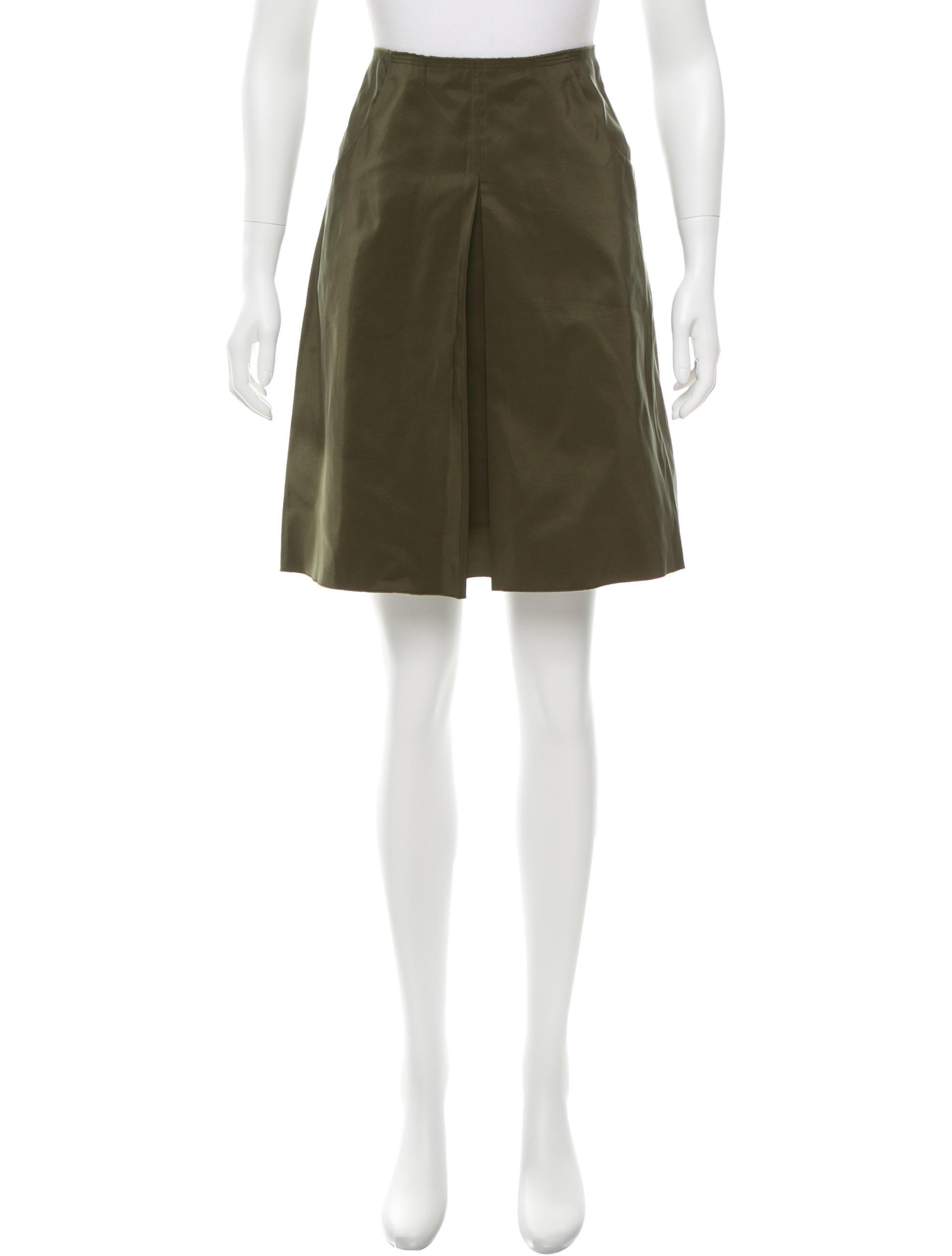jil sander silk blend a line skirt clothing jil33677