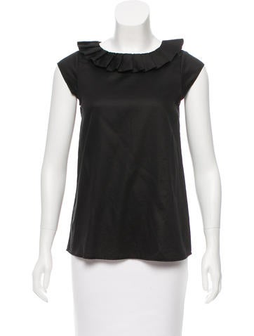 Jil Sander Ruffle-Accented Sleeveless Top